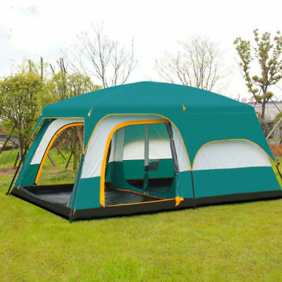 Large Hiking Camping Tent For 6-12 Person Instant Family Tent Carry bag AU Stock