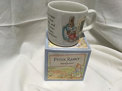 PETER RABBIT BY WEDGWOOD MUG STILL IN BOX 1992 Made In England