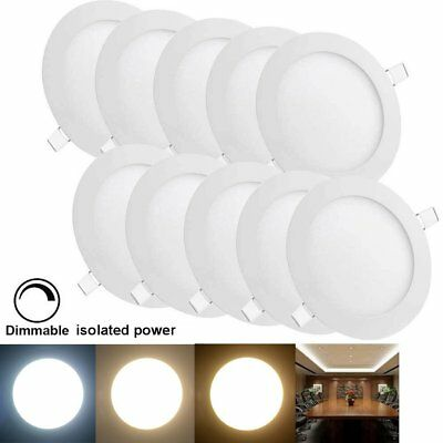 10pcs 12W Dimmable LED Recessed Ceiling Panel Down Light Bulbs For Indoor Home H