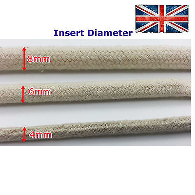Cotton Cover Cable Wire Tube Sleeve Textile Fabric 4mm 6mm 8mm Protective
