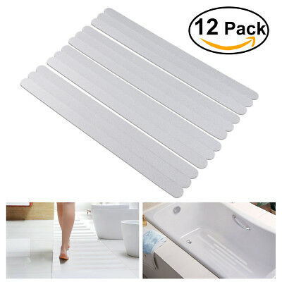 12pcs Anti Slip Bath Mat Grip Stickers Shower Strips Non Slip Floor Stickers
