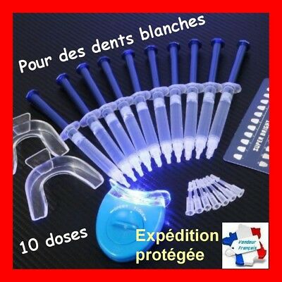 Kit complet pro blanchiment dents 10 doses 44% peroxyde