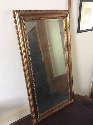 Large Old Gilt Mirror