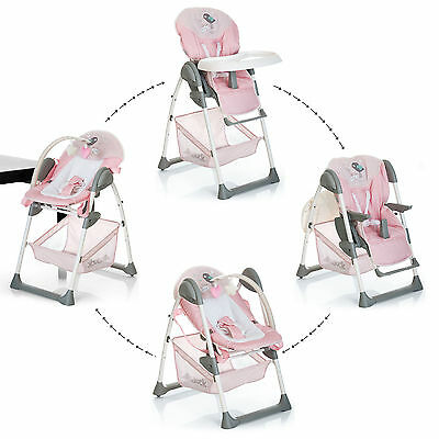 NEW Hauck Sit'n relax 2in1 zoomy baby highchair+bungee in birdie pink