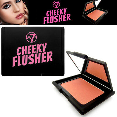 W7 Cosmetics Cheeky Flusher Natural Shimmer Glow Highly Pigmentated Blush Orange