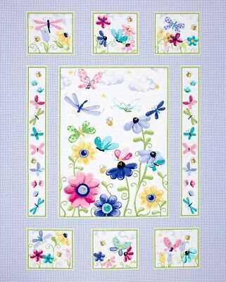 Susybee Flutter The Butterfly Quilt Panel * New * So Pretty * Free Post *
