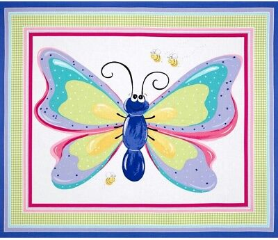 Susybee Flutter The Butterfly Quilt Panel Or Playmat  * New * Free Post *