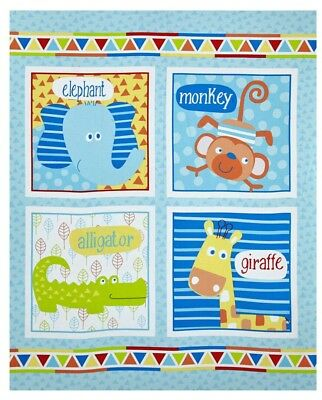 Swingin Safari Quilt Panel * New * Cute * Free Post *