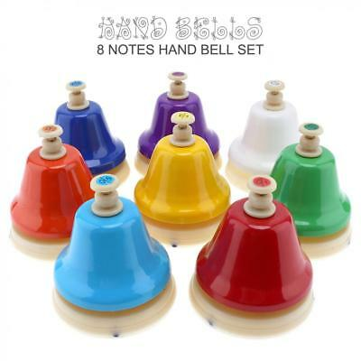 8 Tones Colorful Hand Bells Child Baby Early Education Musical Instrment Toy