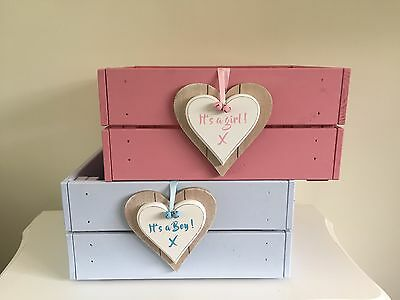 Beautiful Baby It's A Girl Or Boy  Wooden Storage Box Gorgeous Gift