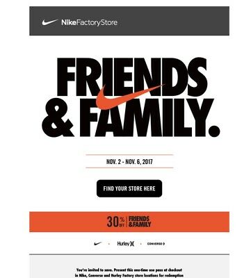 hot sale online 7270e 2c630 Nike All Access Pass 30% Off Card Factory Store Outlet Coupon 11 2-