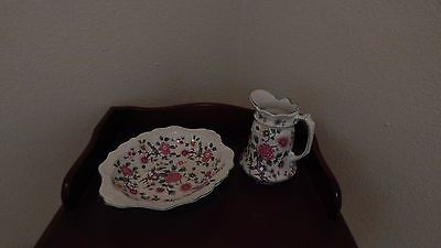 Old Foley by James Kent LTD Chinese Rose Oval Bowl and Pitcher
