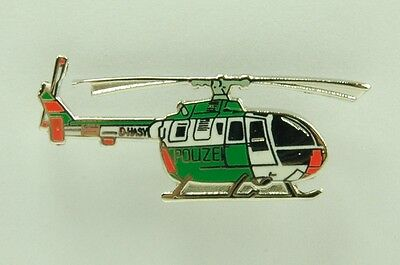 Pin Hubschrauber Helicopter Bo 105 Polizei crystal genève H17P