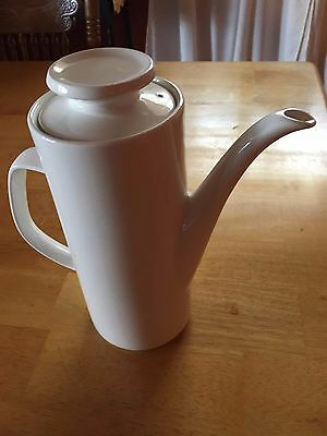 J & G Meakin Studio Coffee/Tea Pot & Lid (White)  Excellent Used Condition