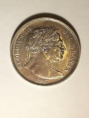 "1817 George Iii ""bullhead"" English Halfcrown - Ef"