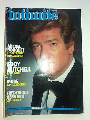 magazine intimité  2030 EDDY MITCHELL michel bouquet supplément roman photo 1984