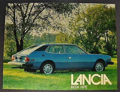 1977-1978 Lancia Beta HPE Sales Brochure Sheet Excellent Original