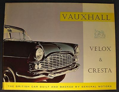1960 Vauxhall Velox & Cresta Catalog Brochure Excellent Original 60 Canadian