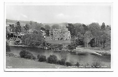 Dryburgh, Abbey Hotel & The Tweed Real Photo Postcard Lillywhite        378A