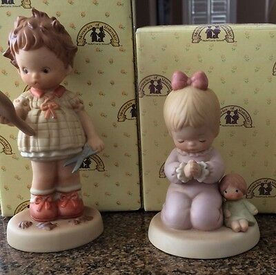 Memories of Yesterday Figurines  BOBBED and I PRAY THE LORD MY SOUL TO KEEP