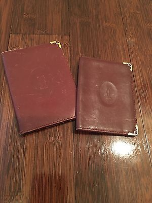Two Authentic Vintage Cartier Card Cases