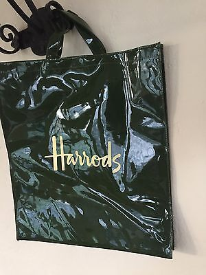 Harrods Traditional Large Olive Tote Bag NWT