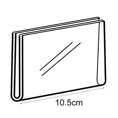 PERSPEX®/Acrylic A7 Landscape Wall Sign Holder Pricing/Label Retail/Shop Display