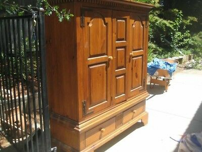 Lexington Chest Armoire Wardrobe Center Timberlake Solid Cherry Delivery Vintage