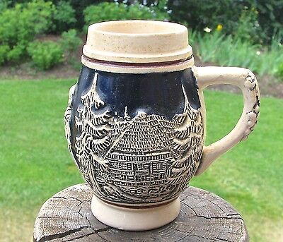 Vintage Small Ceramic Beer Stein / Mug - Numbered