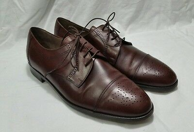 Bally Barlington Shoes 10.5  D brown Italy lace up