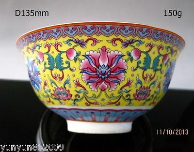 Chinese famille rose porcelain bowl of hand-painted flowers qianlong mark NRR