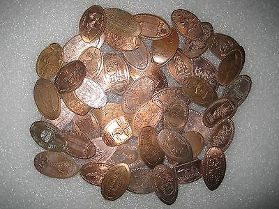 Nice Mix Of 50 ALL DIFFERENT Elongated Pennies Cents Lot 1C288