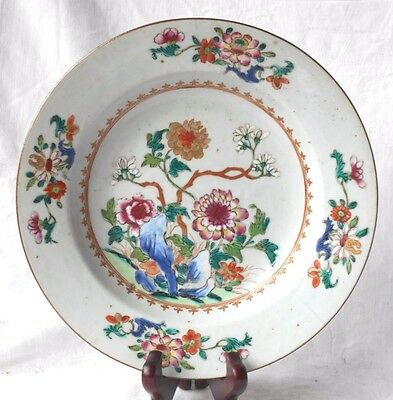C18Th Chinese Famille Rose Plate Decorated With Flowers