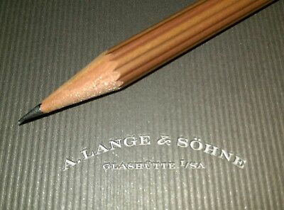Lange & Sohne A5 branded notepad with engraved branded wooden pencil. New