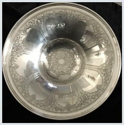 Antique Tiffany & Co Makers 1041 Sterling Silver Bowl Rare Centerpiece Pedestal