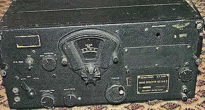 Belmont Radio Corporation Model BC-348-R WWII Aircraft Radio Receiver Nice Unit