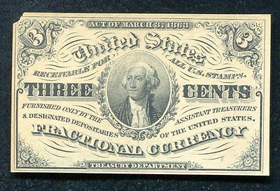 Fr. 1226 3 Three Cents Third Issue Fractional Currency Unc (B)