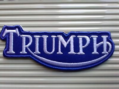 Triumph Old Design Blue And White. Stylish Patch Sew Or Iron On  Patch