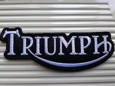 Triumph Old Design Black And White. Stylish Patch .sew Or Iron On  Patch