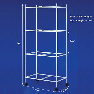 """4 Tiers Stand for 30""""x18""""x18"""" Size Aviary Bird Cages T813 White-369"""