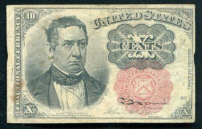 Fr. 1266 10 Ten Cents Fifth Issue Fractional Currency Vf
