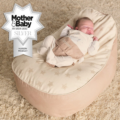 Baby Toddler Bean Bag Support Chair - Sleep Safety- Natural- With FREE Cover