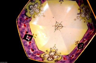 Old-Nippon  Hand Painted Bowl 6 Sited With  Footed - Gold  Ornament