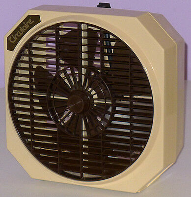 Circulaire Vintage Box Fan, 1970's, 3 Speed