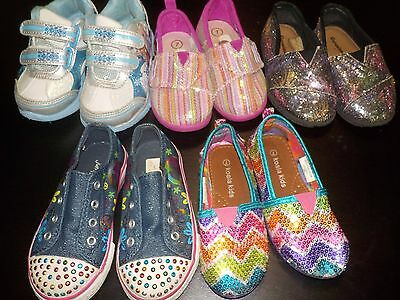 Girls Shoes Lot of 5 Pairs Size 7T Toddler Disney Frozen Dora Light-up
