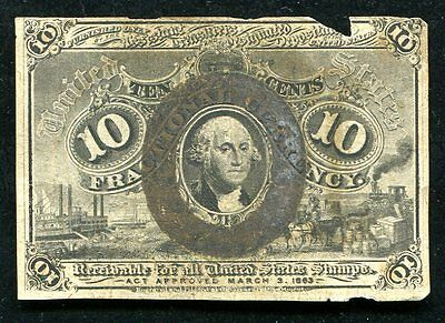 Fr. 1244 10 Ten Cents Second Issue Fractional Currency