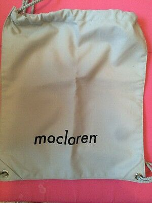 Maclaren Stroller Accessory Bag/backpack Double Adjust Straps 13x15 New