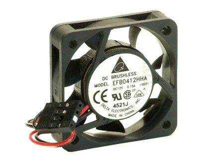 Delta EFB0412HHA-SE01 Computer PC casing Fan 4-Pin 0.15A DC-12V 1 9/16x0 3/8in