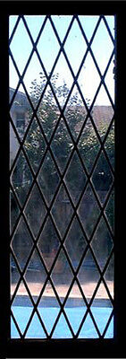 "Diamond leaded glass Window  12"" x 24""   in clear glass"