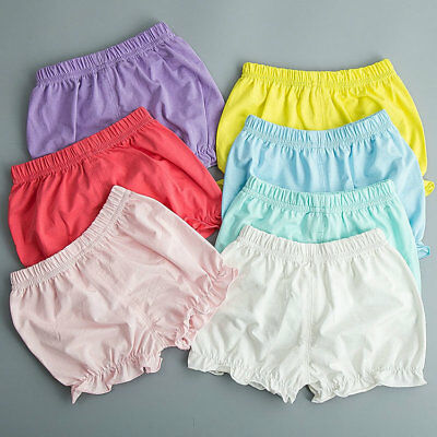 Baby Girl Newborn Infant Cotton Pants Bottoms Shorts Diaper Nappy Cover Bloomers